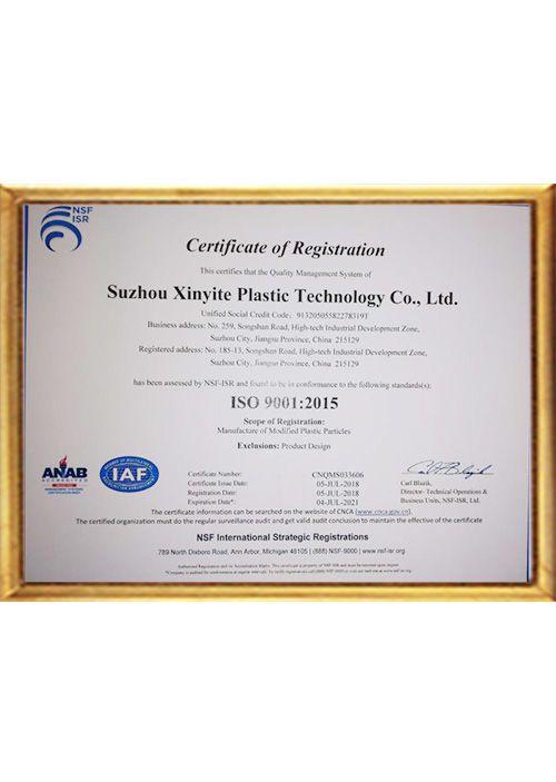 Xinyite ISO 9001 EN